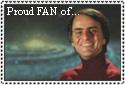 Carl Sagan stamp by Tsiphone