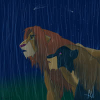 Simba, please come back home.. by Rainb0wC0nd0m