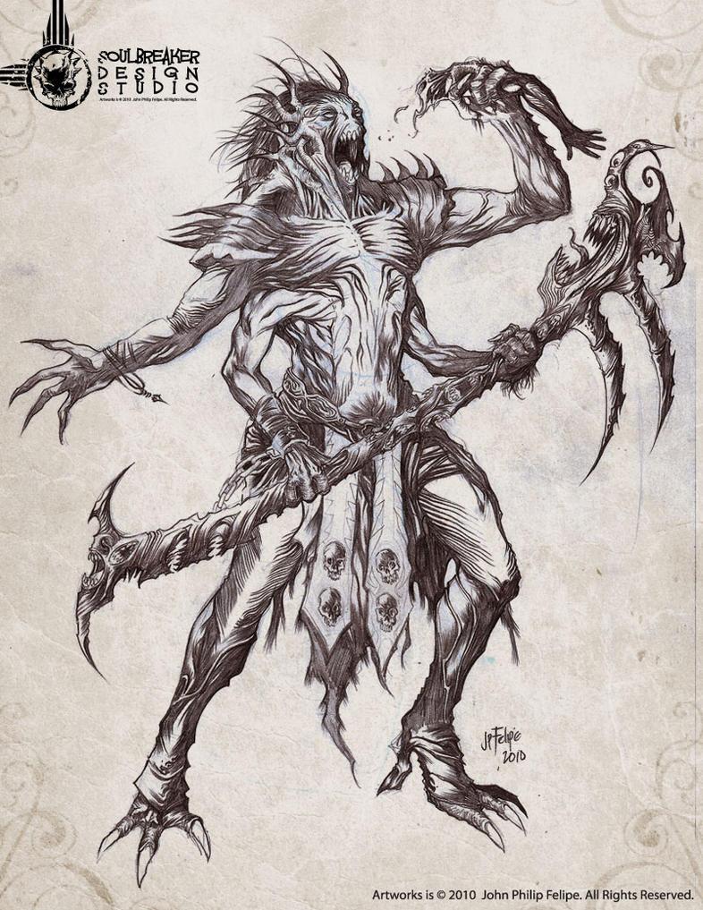 Demon warlock by soulbreaker001
