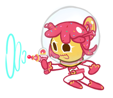 Space Doughnut Cookie by emptyruby