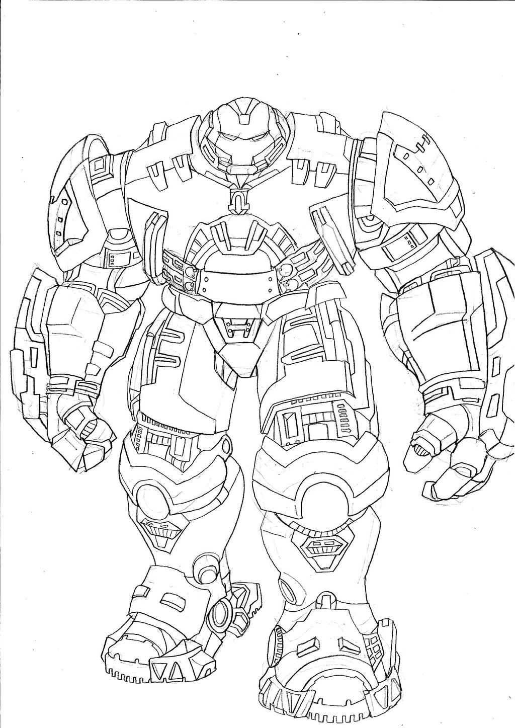 Iron Man Hulkbuster Vs Hulk Coloring Pages Sketch Coloring