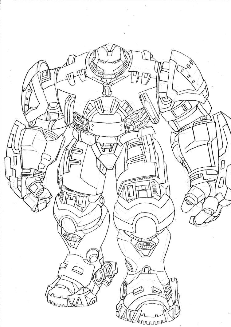 Hulk Buster Coloring Pages Sketch Coloring Page