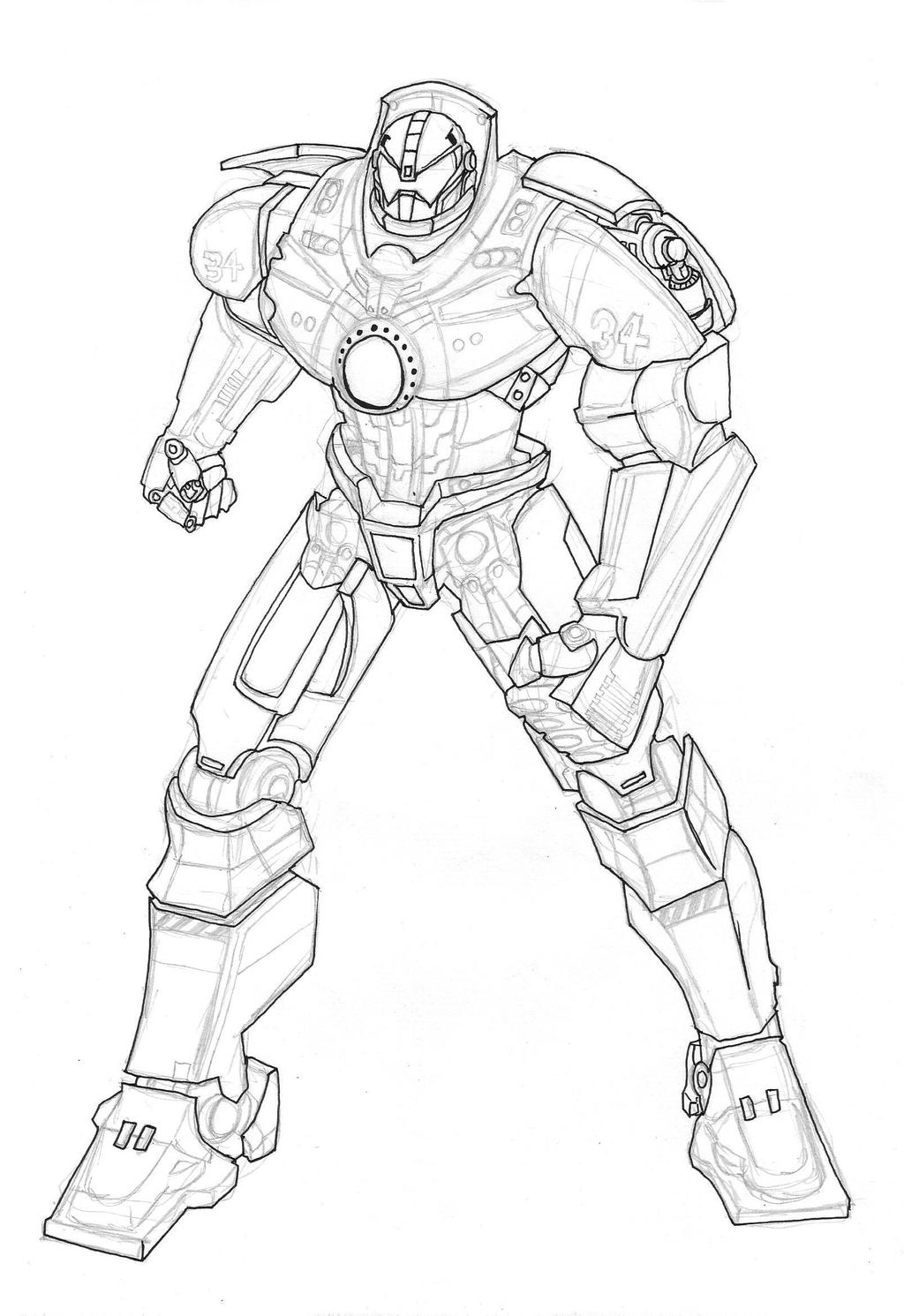 Gipsy Danger Sketch By Camposbane On Deviantart