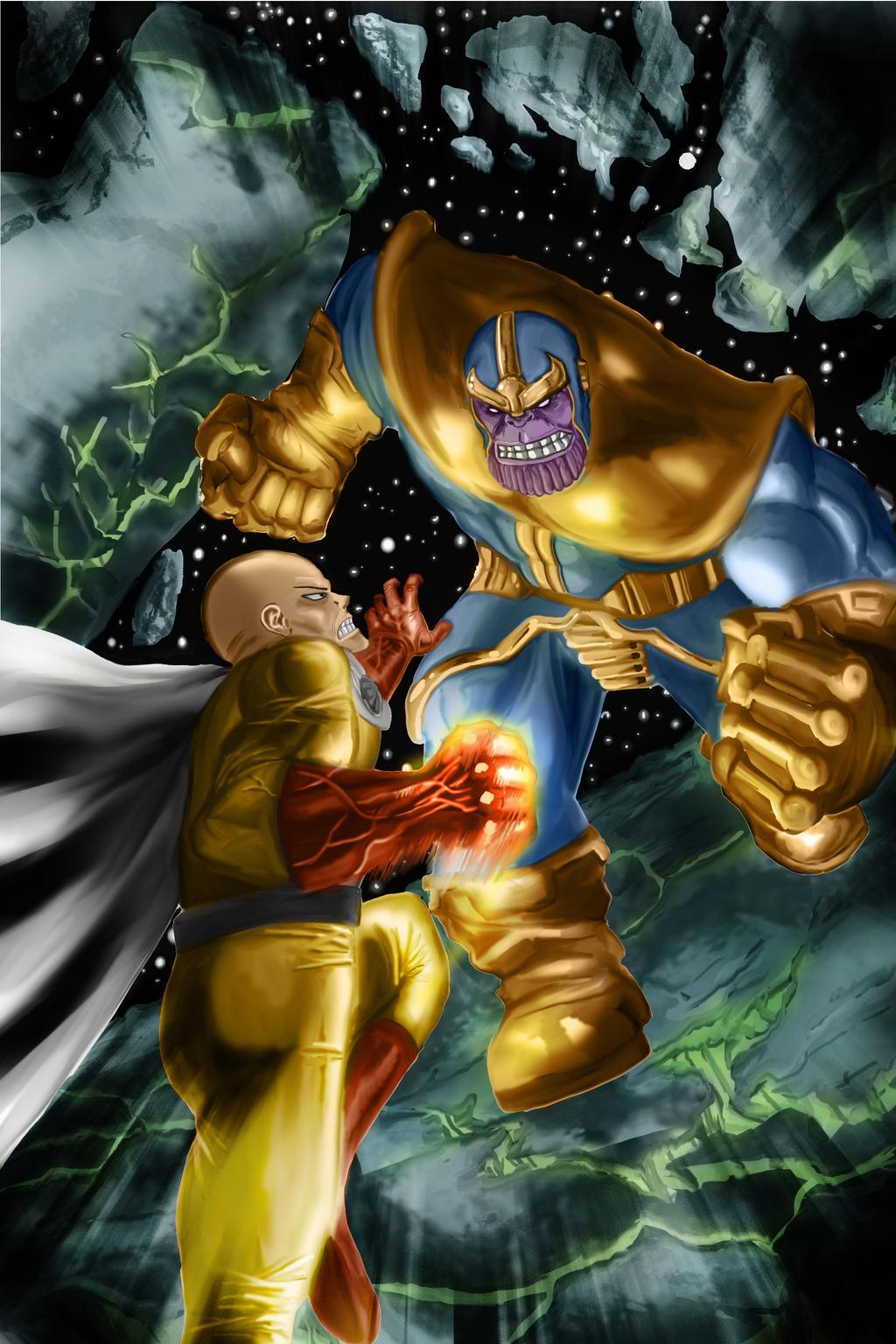 Anime Characters Vs Thanos : Saitama vs thanos by camposbane on deviantart