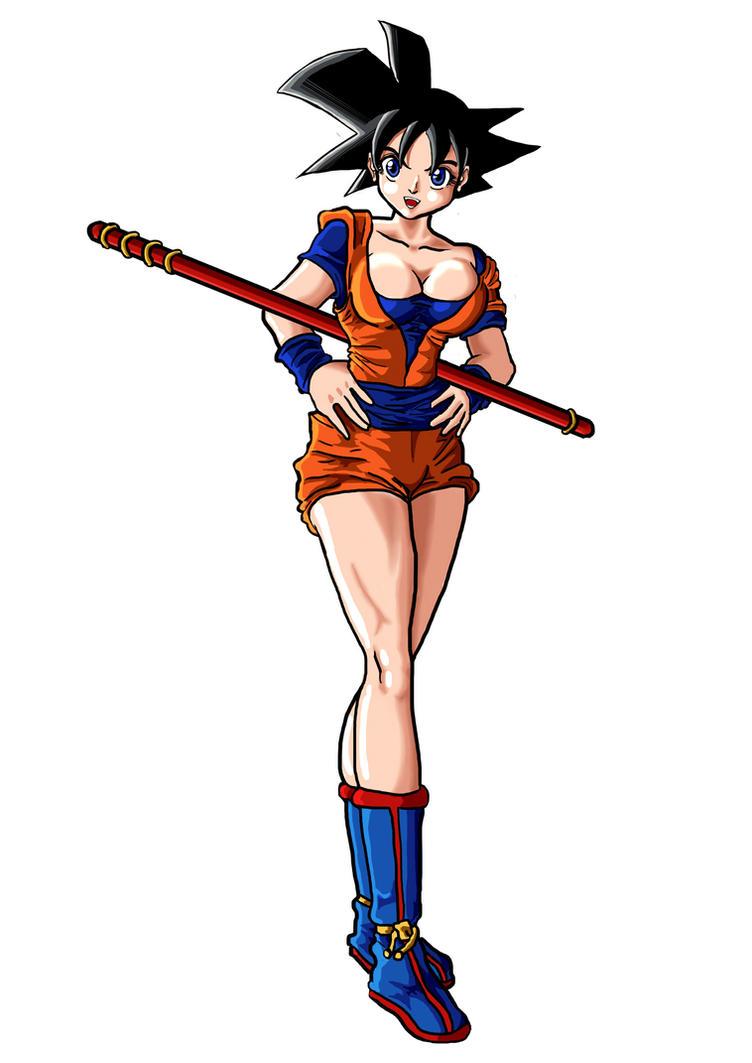 Goku genderbend by CamposBane