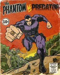 The Phantom vs Predator, fake comics cover