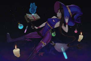 Ahri Witch [Halloween Wallpaper] by neozumi