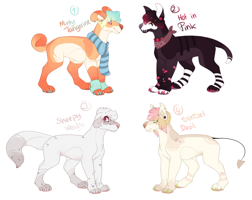 Canine -Base- Adoptables +1 left for flatsale+ by Seffiron