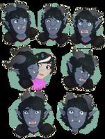 Blue Monkey Boy by Seffiron