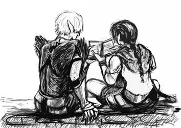 Fenris and Hawke - The Friends They Became - 2 by nomibubs