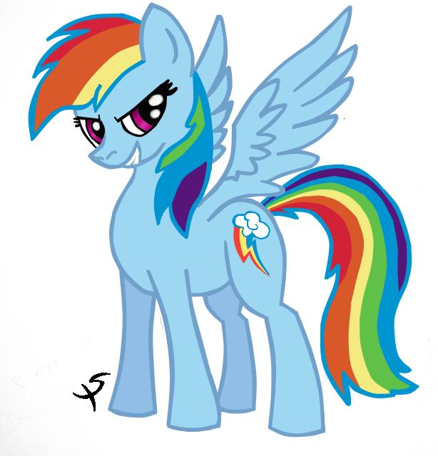 Rainbow Dash In COLOR by xscaralienx on DeviantArt