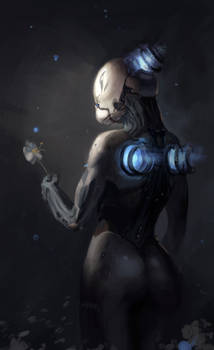 Nova with flower