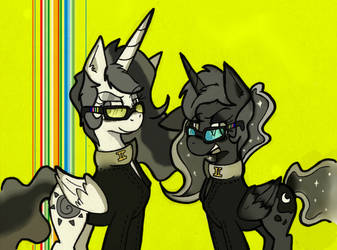 2 best sisters play Persona! by Bluetooth-ArtPony