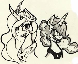 Evil Sisters by Bluetooth-ArtPony