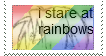 I stare at rainbows (stamp) by Freak-of-Games