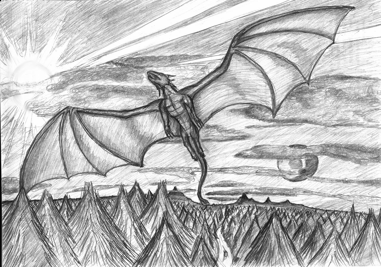 a flying dragon by cymoth on deviantart