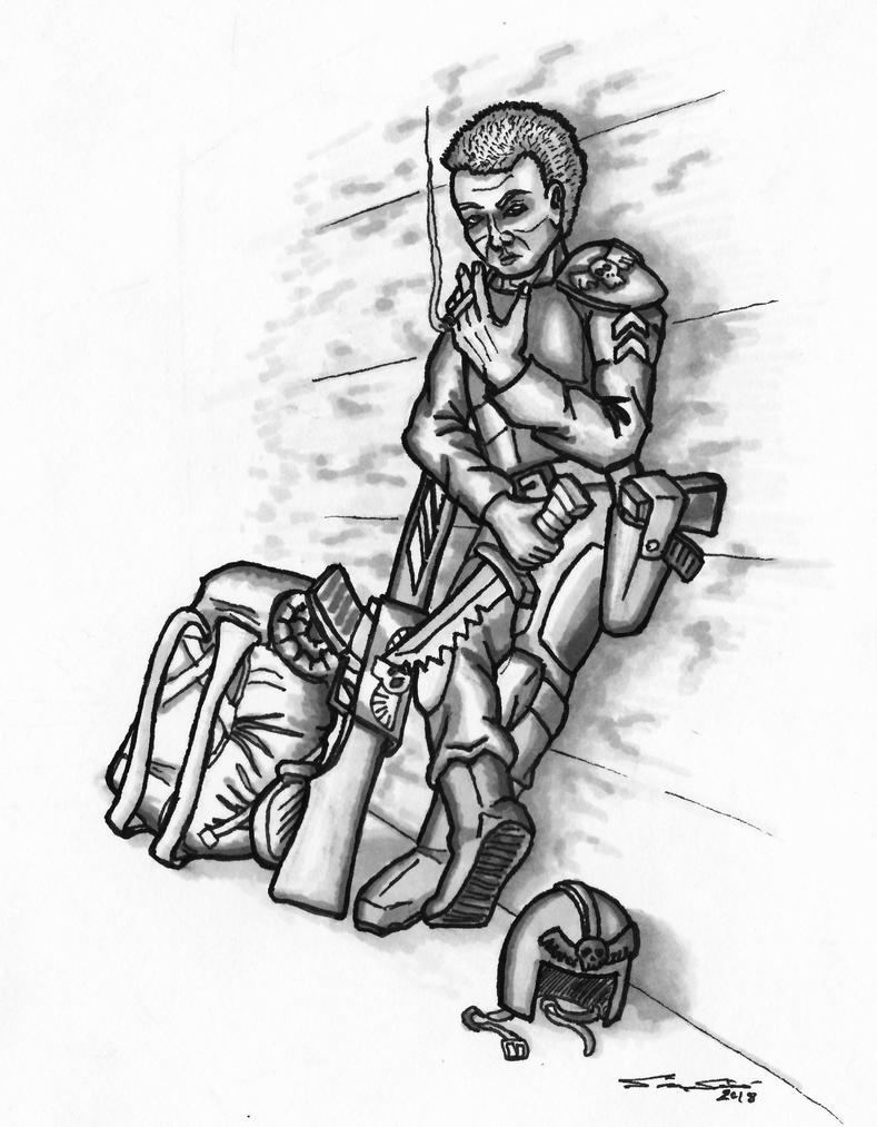 Imperial Sergeant McCallum by Cymoth