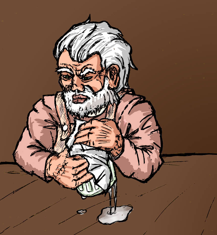 Dwarven Bartender by Cymoth