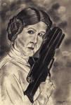 Portrait Practice: Leia Organa by Cymoth