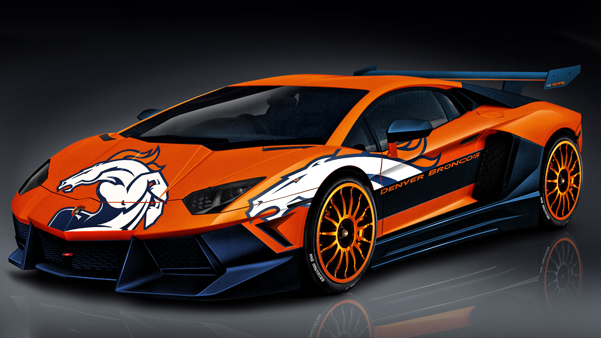 Broncos Lamborghini By Denversportswalls On Deviantart