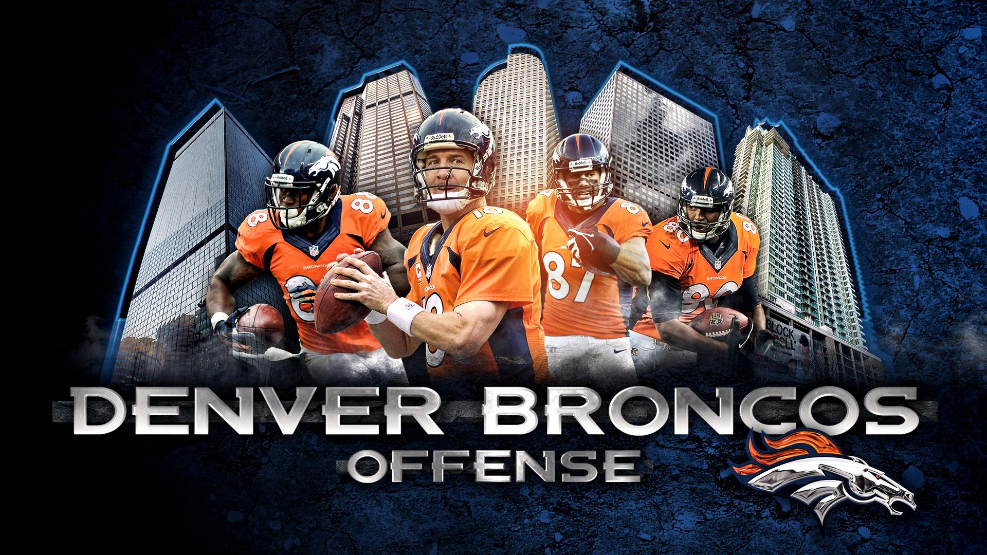 peyton manning broncos wallpaper.  Manning Denver Broncos Offense By DenverSportsWalls  Intended Peyton Manning Wallpaper I