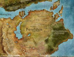 Map of Ferelden by Herebedragons66
