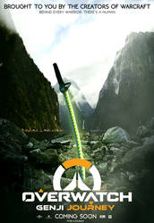 Overwatch Genji Journey - Poster by ArtBasement