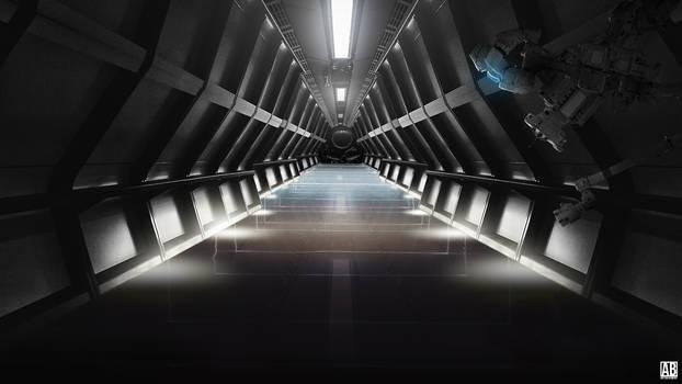 Sci-Fi Room - Widescreen Wallpaper by ArtBasement