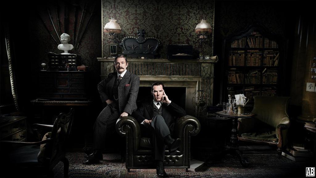 Sherlock - Wallpaper by ArtBasement