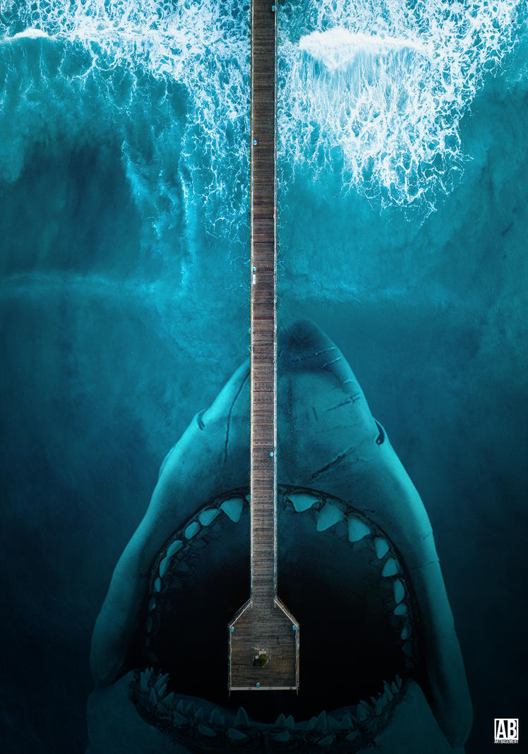Jaws - Poster by ArtBasement