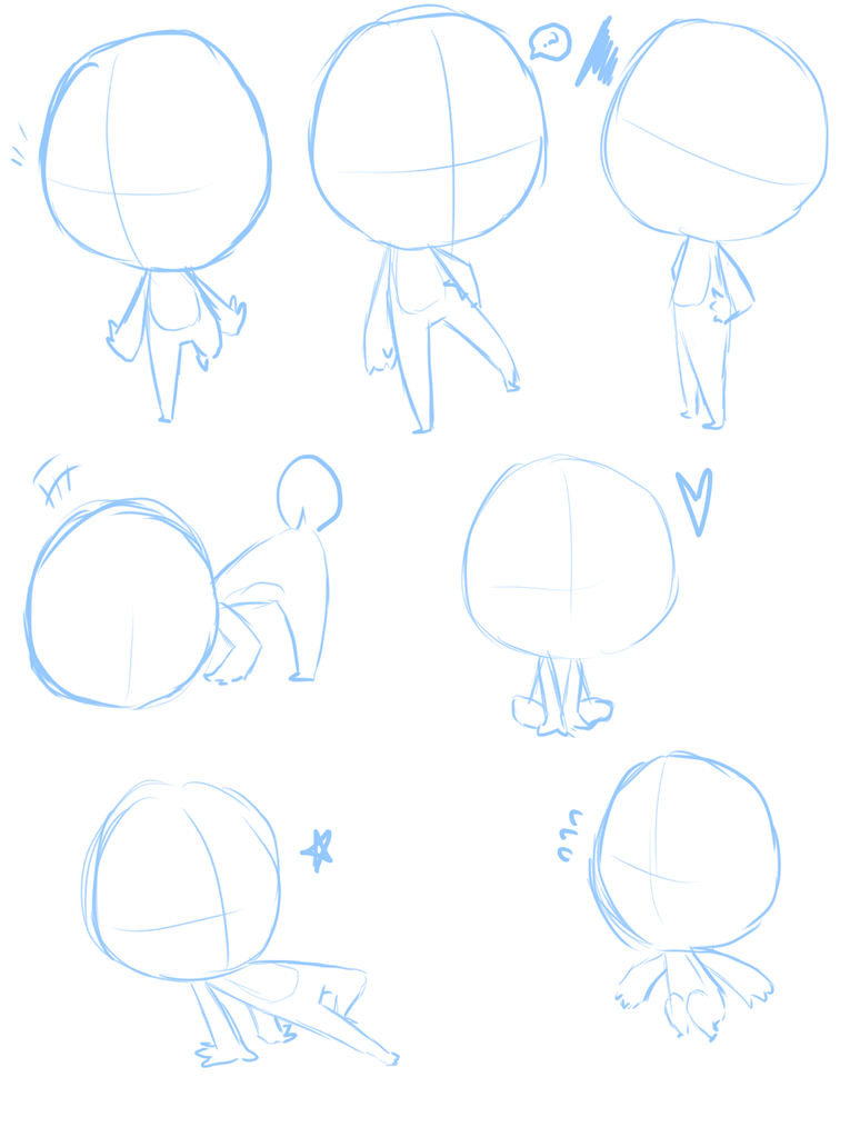 how to draw chibi body poses