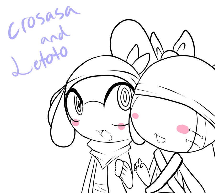 Yamio Lineart : Letoto and crosasa lineart by yamio on deviantart