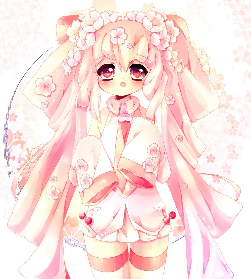 Yamio Lineart : Sakura miku by yamio on deviantart