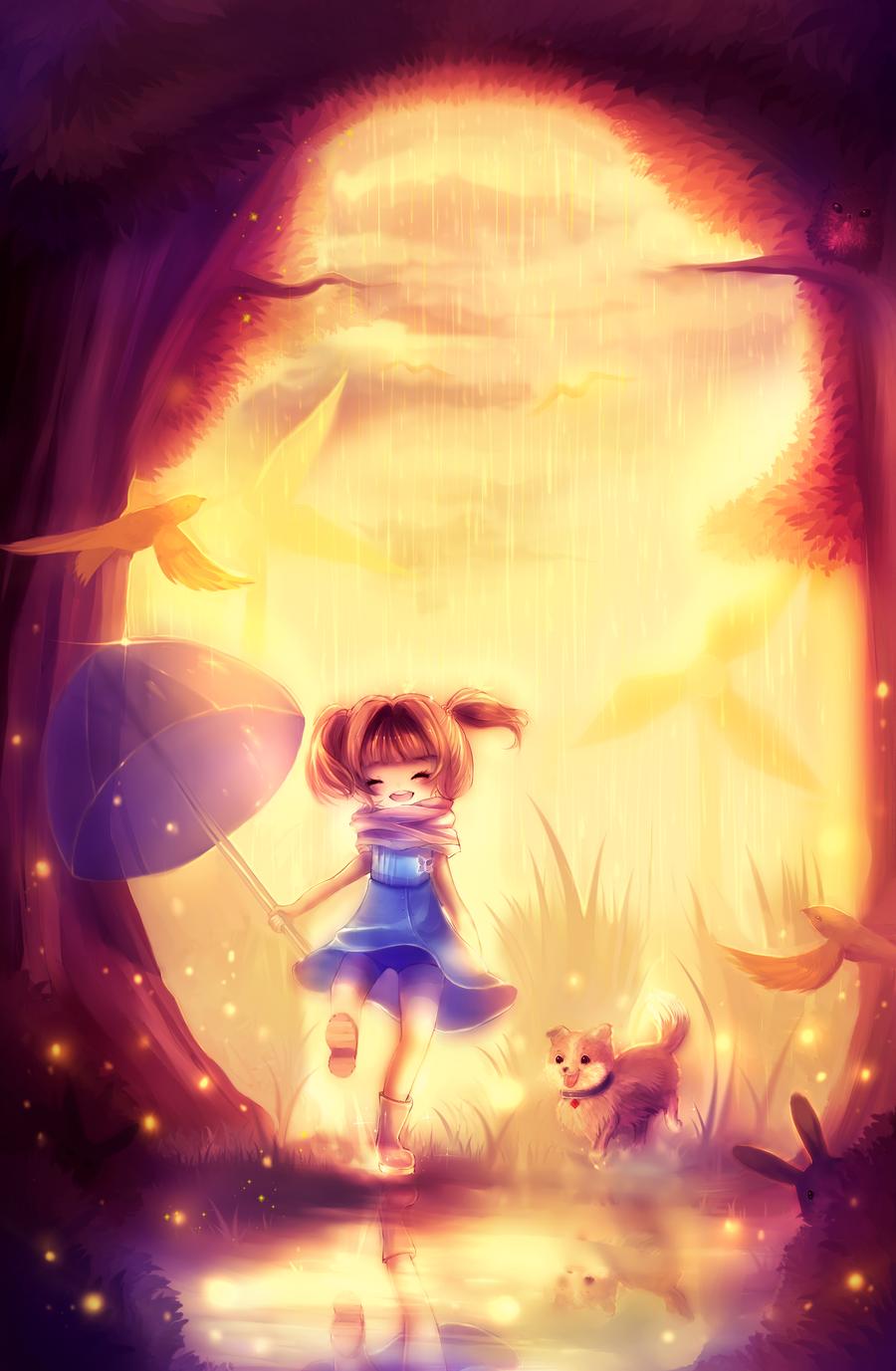 Sunset Firefly by Yamio
