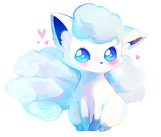 Alola Vulpix [SPEEDPAINT UP] by Yamio