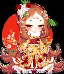 Day 8 - Bird Cherry Tree + Rainier +Red Amaryllis