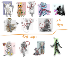 Halloween Adopt Batch [8/12 OPEN] by ChesterPalm