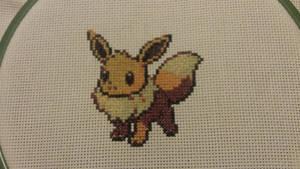 X-Stitch - Pokemon - Eevee by thirteendaze