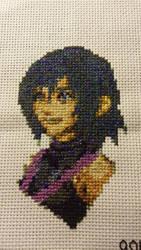 KH:BBS - Aqua (x-stitch)