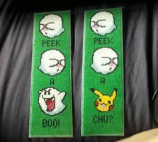 X-Stitch - Pika-Boo bookmark