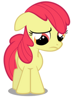 Apple Bloom - Saddened and Bow-less by CaliAzian