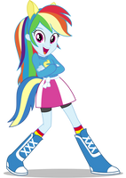 Rainbow Dash EqG: Wondercolts Pose by CaliAzian