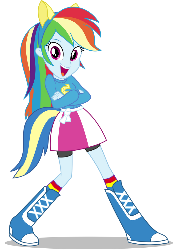 Rainbow Dash Eqg Wondercolts Pose By Caliazian On Deviantart