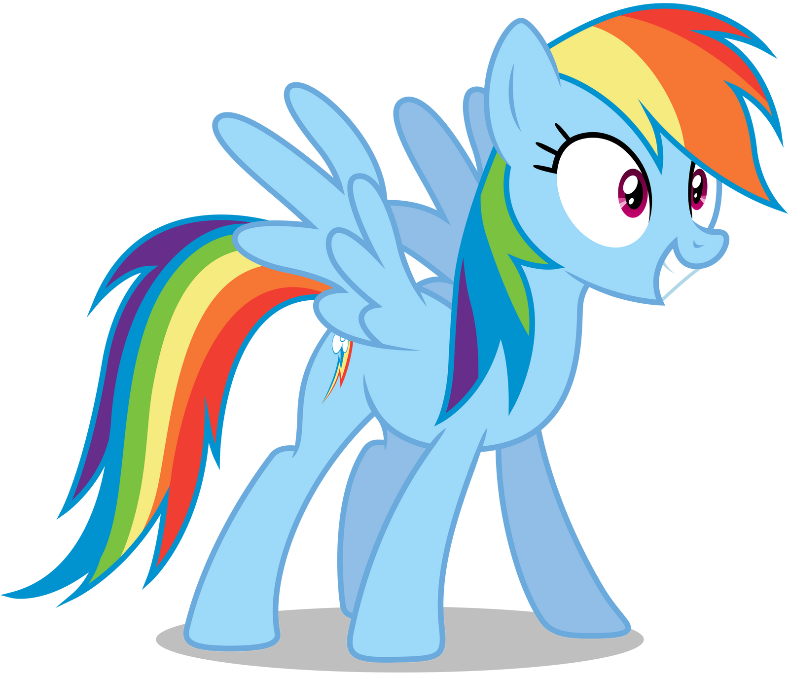 rainbow dash excited by caliazian on deviantart