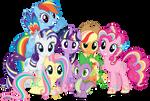 Mane 6 and Spike - Rainbowfied Group Photo