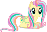Fluttershy - Rainbowfied from Group Shot