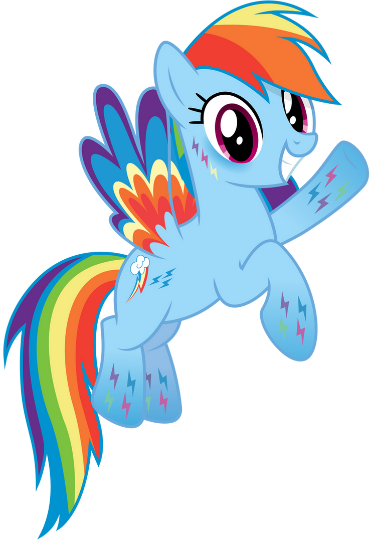 Rainbow Dash Rocks Version by PhilElMago | Rainbow dash