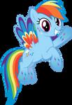 Rainbow Dash - Rainbowfied from Group Shot