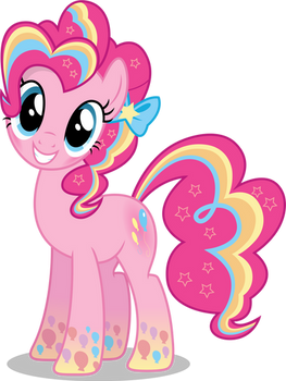 Pinkie Pie - Rainbowfied from Group Shot