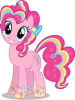 Pinkie Pie - Rainbowfied from Group Shot by CaliAzian